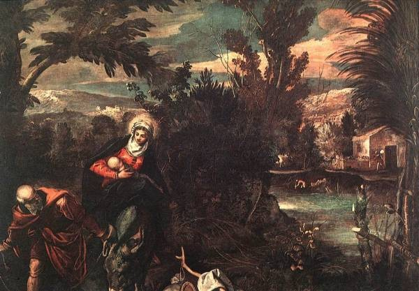 Tintoretto Flight into Egypt